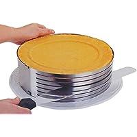 Molde de pastel anillo ajustable Da.Wa. Molde en capas, cortador y rebanador, molde de pastel cortador