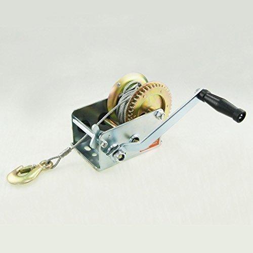 900KG Hand Gear Strap Car Boat Trailer Jet Ski Webbing Wire Winch 2000LB Test