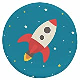 X-Life Fußmatten Runde Teppich für Kinderzimmer, mit Gut-Siegel Anti-Rutsch Waschbar, Hochflor Wohn-Teppich für Wohnzimmer, Schlafzimmmer, Kindergarten in Verschiedene Cartoon-Muster (Ø100cm)