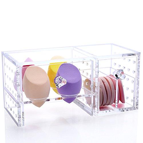 Acryl Make Up Schwamm Organizer Make-Up-Aufbewahrung Aufbewahrungsständer Aufbewahrung für Make-up- Schwämmchen Box Kosmetikständer Behälter von der Marke MyBeautyworld24