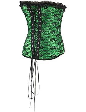 La mujer de encaje de Cintura de látex Cincher correa cintura verde formador y Shaper