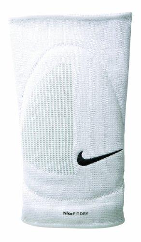 Coppia Ginocchiere Volley Pallavolo NIKE Fit Dry Skinny Bianche Imbottite elastiche Taglia S/M