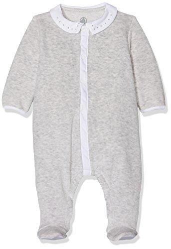 Petit Bateau DORS BIEN Grenouillère Mixte bébé Gris (Beluga Chiné) 0-3 mois (Taille fabricant: 1M 1 MOIS)