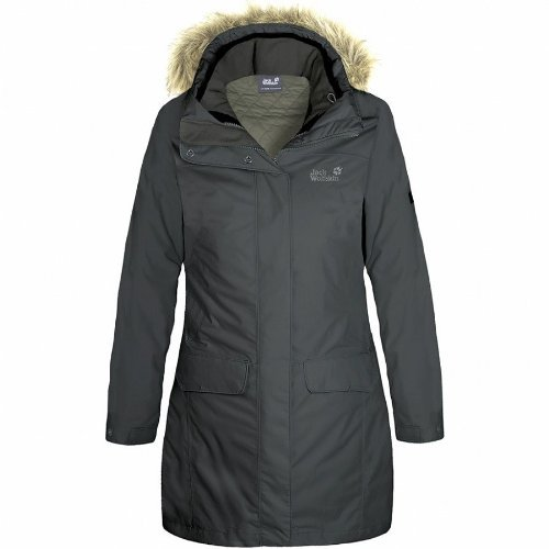 Jack Wolfskin QUEBEC COAT WOMEN black
