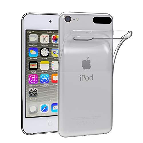 Ivoler cover custodia per apple ipod touch 7/6 / 5 (7ᵃ, 6ᵃ e 5ᵃ generazione), [crystal clear] silicone case molle di tpu trasparente sottile custodia per apple ipod touch 7g / 6g / 5g generazione