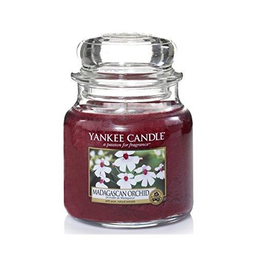 YANKEE CANDLE 1344785E Bougie Senteur Madagascar Orchidée en Pot Rose