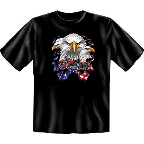 Biker & Motorrad T-Shirt geil bedruckt / Eagles Bike ! Schwarz