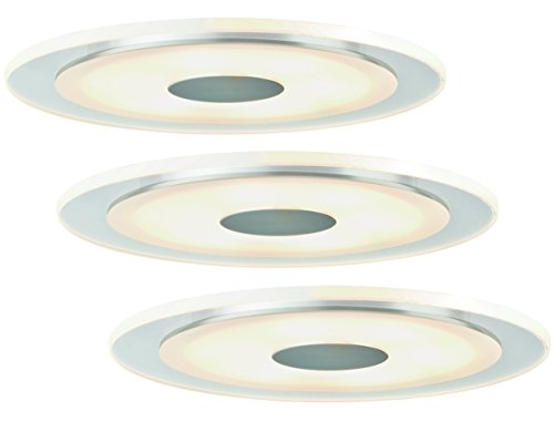 Einbauleuchten-Set Premium Line LED Whirl 6W Alu, Satin, 3er Set