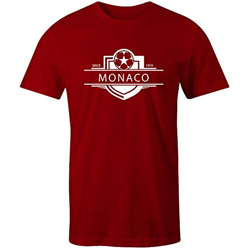 Sporting Empire Monaco 1919 Established Badge Kinder Fußball-T-Shirt Gr. X-Large, rot