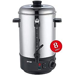 DMS® 8 L Glühweinkocher Glühweinautomat Wasserkocher Heißwasserspender Kocher Glühweinkessel Kessel 1800 Watt Einkochautomat TK-8