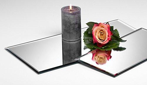 3x Glasplatte Spiegelplatte Mirror eckig 0,5 cm Ø 40,0 x 20,0 cm von Sandra Rich