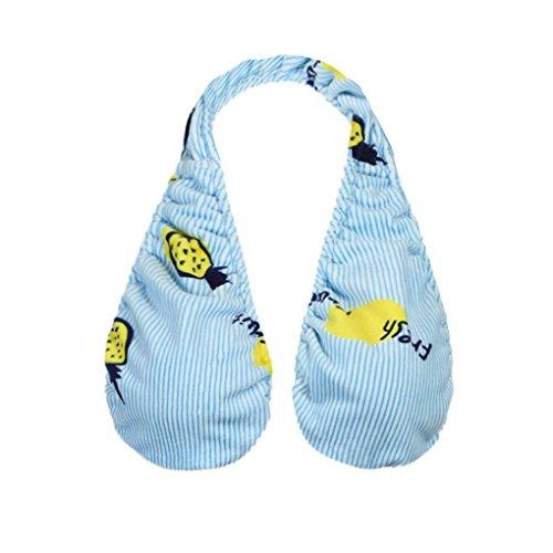 ta-ta Handtuch BH, xinxinyu Frauen Samt sexy Print weichem ta-ta Handtuch BH Sport Handtuch sexy Boob Schweiß Handtuch für Damen, blau (Crew Trim Socken Fit Crew)