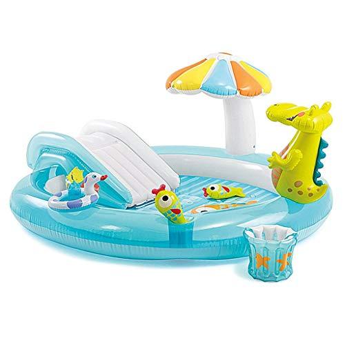 Bathtubs Bañeras inflables Bebes Bañera Inflable, bañera Plegable para niños con bañera de la Familia Slide Pool (Color : B)