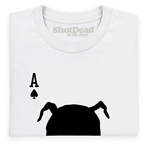 Inspired By Twin Peaks - Playing Card Langarmshirt, Herren Wei