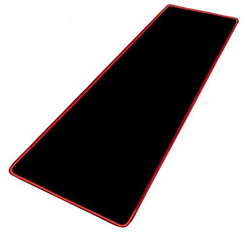 Preisvergleich Produktbild Big Mouse Pad,  EONANT Extended Gaming Mauspad 800x400x3mm Anti-Rutsch Gummi Mäuse Pads mit Genähten Kanten Wasserdicht (Rot / Schwarz)