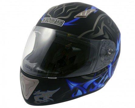 Wangenpolster Einstellbare (Integralhelm, Rollerhelm, Motorradhelm WACHMANN WA-10 ViriFortis blau / schwarz matt -Größe XL)