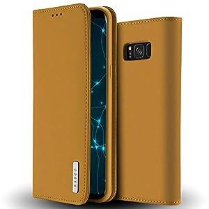 Radoo Galaxy S8 Hülle, Luxus Premium Echtes Leder