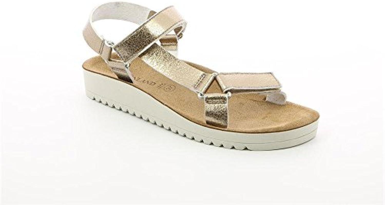 Mujeres Verano Moda Zapatos Casuales Zapatos De Playa Sandalias Talla Grande Zapatos Planos Tejido Lona TAMAÑO... -