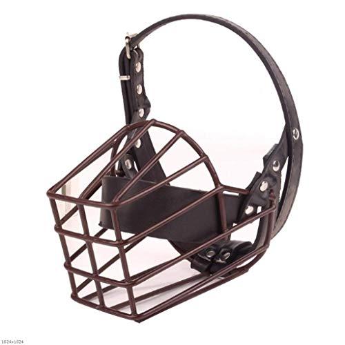 CMDDYY Pet Supplies-Máscara De Boca De Perro De Metal Grande, Control De Mierda para Evitar La Máscara De Mordedura De Perro,M
