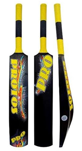 CW Protos Fiberglas Full kurzer Griff DICK Kanten Cricket Bat schwarz gelb für Soft Ball New Designed