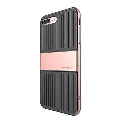 iPhone 7 Plus Hülle, IVSO 2in1 Ultra Slim Silikon Rückseite Schutzhülle, mit Advanced Shock Absorption Technology hülle für Apple iPhone 7 Plus 5.5 Zoll Smartphone , Golden Golden