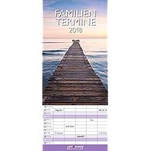 Glücksmomente 2018 - Familienplaner, 5 Spalten Familienterminkalender - 19,5 x 45 cm