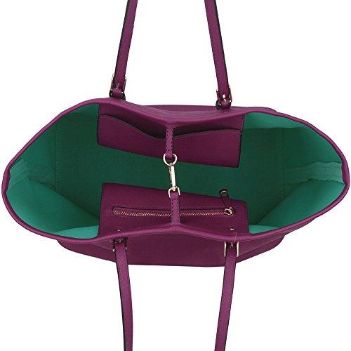LeahWard Damenmode Desinger Qualität Shopper Bag Taschen Damen modisch meistverkauft Handtaschen Groß Größe Tasche CWS00297 Lila
