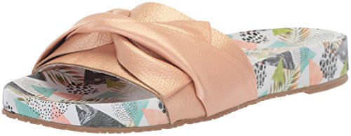 KAANAS Women's Galera Printed Pool Bow Fashion Slide Sandal