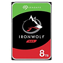 "Seagate IronWolf 8TB NAS Hard Drive Internal 8.9cm (3.5"") 7200RPM 256MB Cache SATA 6Gb/s ST8000VNZ04 (ST8000VN004) - Silver FFP (Frust-Free Packaging)"