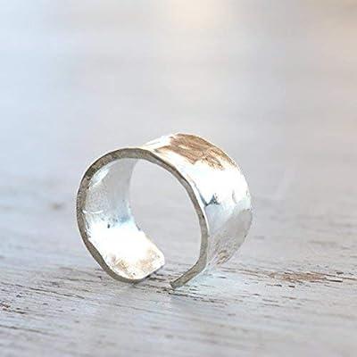 Boucle d'oreille en argent sterling pour boucles d'oreilles martelées réglables pour oreilles non percées pour bijoux pour femmes