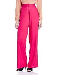 Global Desi Women's Relaxed Pallazo Pants
