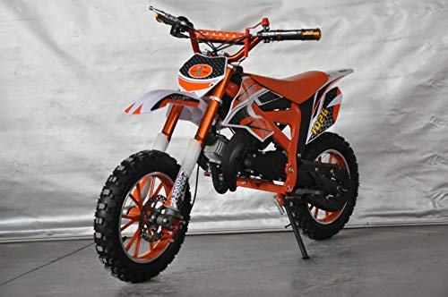 Mini PITBIKE con motore da 49cc a 2tempi, XTM Team Cross. Mini Dirt Bike. Moto di Mini Cross 112x35x58 cm arancione