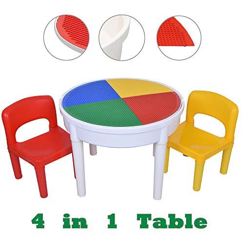 SEIGNEER 4 en1 Enfant Table et 2-Chaises Meubles Enfants Chambre Enfant Meuble Enfant Mobilier Chaise d'enfant