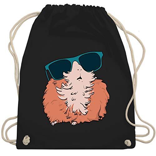 Sonstige Tiere - Meerschweinchen mit Sonnenbrille - Unisize - Schwarz - WM110 - Turnbeutel & Gym Bag
