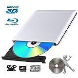 Lecteur Graveur DVD Externe Blu Ray 3D USB 3.0 Portable Ultra Slim Graveur de DVD CD-RW pour Mac OS, Linux, Windows XP/Vista / 7/8/10,PC