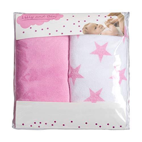 Funda para cambiador bebe - 2 fundas para colchoneta cambiador funda bañera 50x70 50x80 toalla ajustable...