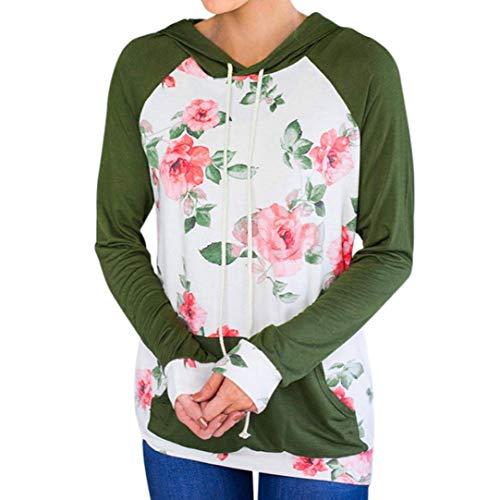452a7a7dfd73d ZHRUI Señoras Sudadera Blusa Pullover Tops Tops de Mujer Imprimir Bolsillo  Empalme Suelta Pullover Hoodie Tops