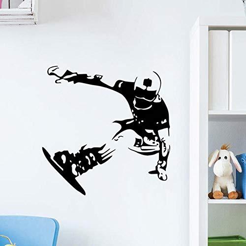 LSDAEER Wandsticker Wandtattoo Wand Deko Rochen-Ski-Aufkleber-Jungen-Schlafzimmer-Hintergrund-Aufkleber Entfernbarer Pvc-Aufkleber, 57 * 58Cm