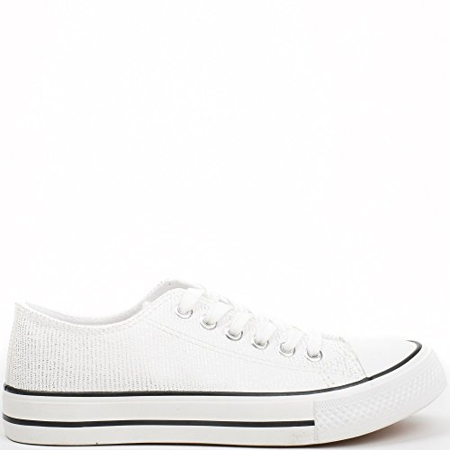 Ideal Shoes ,  Sneaker donna Argento