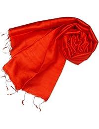 Kuldip Pashmina-Schal aus 100% Seide, in vielen verschiedenen Farben erhältlich, Rot - Light Red - Größe: One Size Fits All