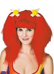 Ciao-Peluca mujer FRU FRU con lazos, color rojo