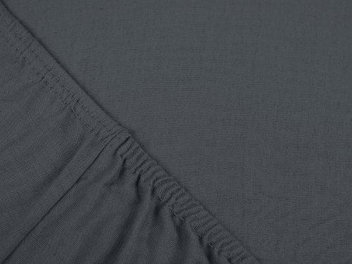 klassisches Jersey Spannbetttuch - erhältlich in 22 modernen Farben und 6 verschiedenen Größen - 100% Baumwolle, 70 x 140 cm, anthrazit - 4