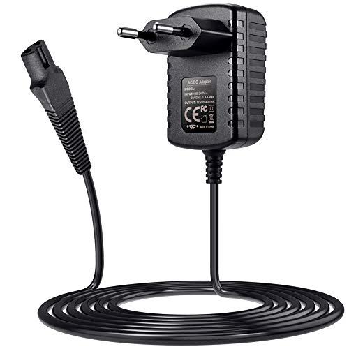 SoulBay 12V-Ladegerät für Braun Rasierer Serie 9 7 3 5 1 3000s 3040s 340s 350cc-4 390cc 5190cc 790cc 760cc 7865cc 9290cc 9903s Rasiererkabel Ladekabel Netzteil, Funktioniert mit Aufgeführten Modellen