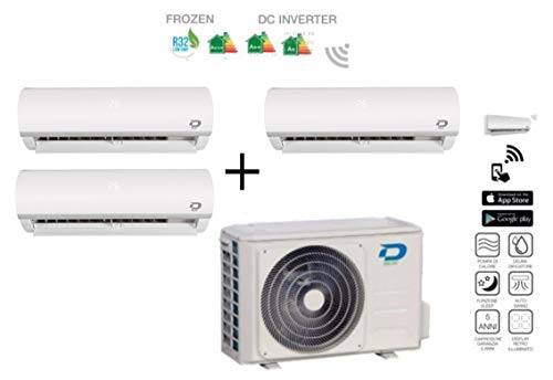 Diloc Frozen MultiSplit Klimaanlage Inverter Trial Gas R32 Kompressor Sharp D.FROZEN360 (9+9+12) D.FROZEN9 x 2 + D.FROZEN12
