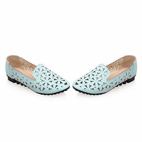 Mee Shoes Damen süß bequem modern Niedrig amtungsaktiv mit Löcher Mesh runde toe Geschlossen Pumps Blau