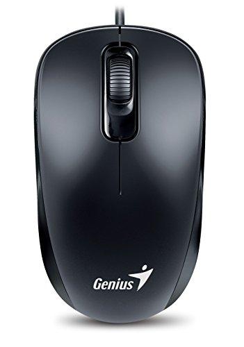 Genius 31010116106 DX-110 Optical Maus PS/21000 DPI, 3 Tasten Scroll-Maus schwarz -