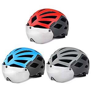 IrahdBowen Helm Sporthelm Anti-UV-Sonnencreme Reitbrille Helm Mountainbike Einteiliger Helm Mountain