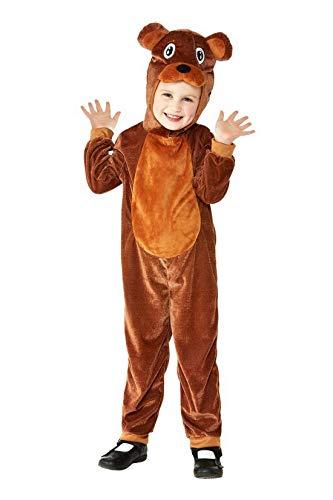 Baby Braunbär Kostüm - Luxuspiraten - Baby Jungen Mädchen Kostüm Toddler Plüsch Braunbär Bär Bear Fell Einteiler Onesie Overall Jumpsuit, perfekt für Karneval, Fasching und Fastnacht, 98-104, Braun