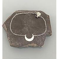 Bracciale donna acciaio inossidabile con corno luna o argento, bracciale luna, regalo donna, gioielli regali