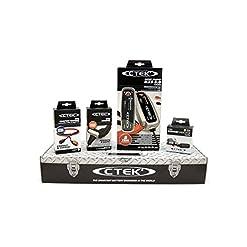 CTEK MXS5.0 (56-305) Toolbox Set Caricabatteria, 12V-5A, con Accessori di Connessione